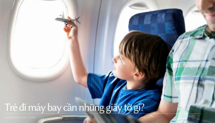 Trẻ đi máy bay