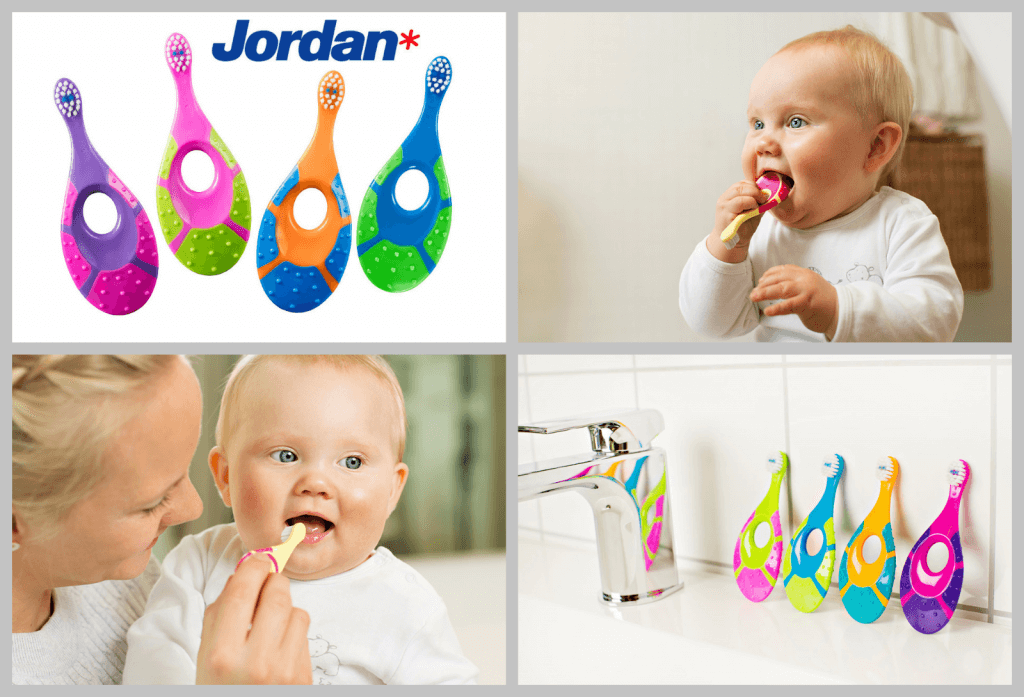 Bàn chải đánh răng Jordan Step by Step dành cho bé 0-2 tuổi
