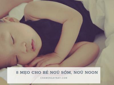 Tập bé ngủ sớm