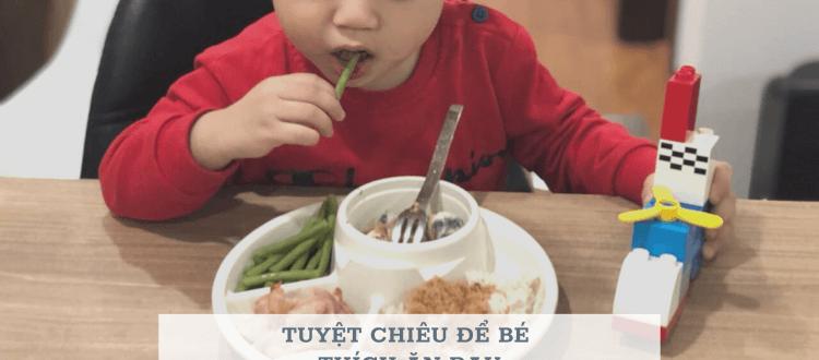 trẻ thích ăn rau